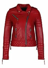 Women's Leather Jacket Slim Fit Genuine Lambskin Biker Motorcycle Jacket  WJ262