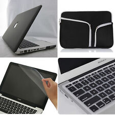 """4in1 Black Frosted Matt Hard Case Cover Bag for Macbook Air Pro 11"""" 13"""" 15""""inch"""