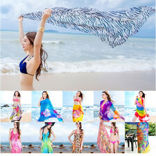 New Women long Soft Silk Chiffon Scarf Wrap Shawl Scarves Beac Sunscreen lot   X