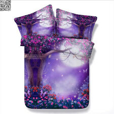 Stars Florals Queen/King Size Bed Quilt/Doona/Duvet Cover Set Pillow Cases A2343