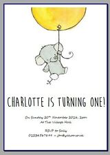 personalised party invites invitations BABY FIRST BIRTHDAY 1ST 2ND 3RD ELEPHANT