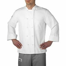 Chefwear 4400-40 Three Star Cloth Knot Button Chef Jacket, White XS-5XL New !