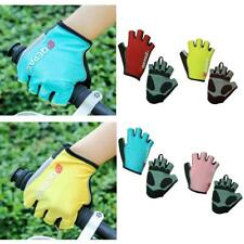 Pair MTB Bike Bicycle Riding Cycling Sports Reflective Fingerless Gel Pad Gloves