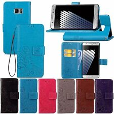 Fashion Flip Leather Wallet Card w/Strap Case Cover For Samsung Galaxy phones