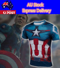 Marvel The Avenger Captain America 3 T-Shirts Cosplay Jersey Tee Costume T-shirt