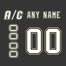 Pittsburgh Penguins Home Jersey Customized Number Kit un-sewn
