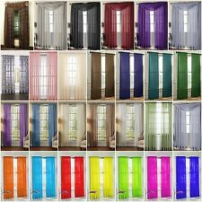 """1PC VOILE SHEER WINDOW PANEL CURTAIN DRAPE FULLY STITCHED 55X95"""" IN 26 COLORS"""