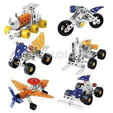 Metal DIY Assembly Vehicle Model Kit Enlighten Kid Educational Toy 3D Puzzle New