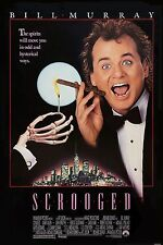 Scrooged (1988) Fantasy/Comedy Movie POSTER Bill Murray