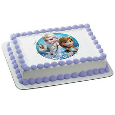 Frozen Olaf, Elsa, & Anna ~ Frosting Sheet Cake Topper ~ Edible Icing Image