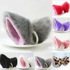 Cat Fox Long Fur Ears Neko Costume Hair Clip Cosplay Halloween Party Orecchiette
