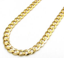 Mens Womens 14K Yellow Gold Cuban Link Curb Chain 3MM- 18-24 Inches