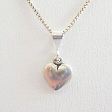 Small Heart Sterling Silver Pendant Charm and Necklace- Free Shipping