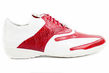Belvedere Men's Bene Genuine Ostrich Calf Cushion Insole RED / WHITE Shoes 2010