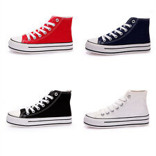 Womens Sports Shoes Classic High Top Canvas shoes Large Size Casual Sneakers