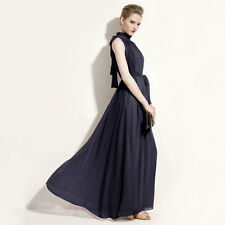 Elegant Ruffle Collar Lace-up Pleated Evening Dress with Belt