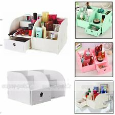 Wooden Cosmetic Makeup Organiser Storage Stand Jewellery Box Drawer Holder