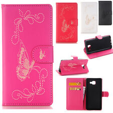 Butterfly Pattern Flip Leather Card Wallet Stand Case For iPhone Samsung LG Sony