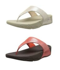FITFLOP™ LULU SHIMMERSUEDE - NUDE or FLAME - WOMENS CASUAL SANDALS - BRAND NEW