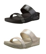 FITFLOP™ LULU SHIMMERSUEDE SLIDE- BLACK or NUDE - WOMENS CASUAL SANDALS - NEW