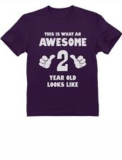 This Is What an Awesome 2 Year Old Looks Like - Funny Kids T-Shirt Birthday Gift