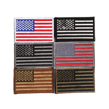 Embroidered American Flag Patch 3D Tactical Patches Fabric US Army Badge Armband