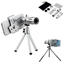 12X Zoom Phone Camera Telephoto Telescope Lens+Tripod Mount Case For Cell Phone