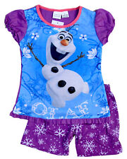 NEW Sz 1~8 PYJAMAS DISNEY FROZEN OLAF PJ GIRLS SUMMER SLEEPWEAR PJS TOP TSHIRT