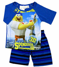NEW SIZE 2~8 BOYS PYJAMAS PJ SPONGEBOB PJS SLEEPWEAR SHIRT SUMMER TOP KIDS