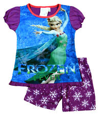 NEW Sz 2~8 PYJAMAS DISNEY FROZEN ELSA PJ GIRLS SUMMER SLEEPWEAR PJS TOP TSHIRT