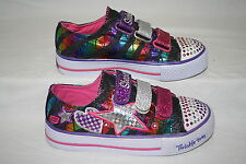 GIRLS SKECHERS HEART/STAR TWINKLE TOE SHOES - SEE LISTING FOR SIZE (912)
