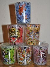 ONE Ed Hardy Large Round Shot Glass SCENTED CANDLES tealight candle and holders