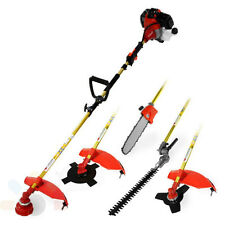 52cc Garden Hedge Trimmer 5 in 1 Petrol Trimmer Chainsaw Brushcutter Multi Tool