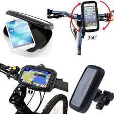 Bike Bicycle Handlebar Mount Holder Waterproof Case for Various iPhone Mobile