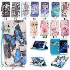 New Cute Patterned PU Leather Card Wallet Case Stand Cover For iPhone & Samsung
