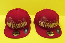 NFL SAN FRANCISCO 49ers RED SKYLINE Flex Hat / Cap by New Era 59Fifty - NEW