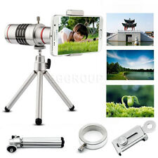 Universal 18X Zoom Optical Telescope Telephoto Lens w/ Tripod For Mobile Phones