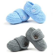 Newborn Baby Infant Girls Boys Crochet Knit Toddler Booties Crib Shoes Handmade