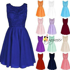 Stock New Chiffon Lace Bridesmaid Dresses Party Prom Evening Cocktail Ball Gowns