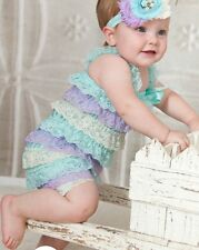 Baby Lace Rompers Baby Girl Lace Jumpsuit Birthday Outfit Newborn Toddler Infant