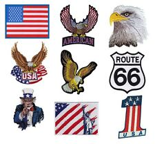 # AMERICA usa flag EAGLE route 66 UNCLE SAM - OFFICIAL SEW-ON PATCH patches