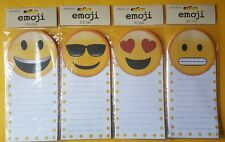 Notepad Stationary Paper To Do List Lined Ruled Emoji Face Happy Love Cool Scare