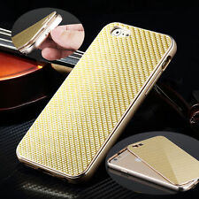Luxury Metal Aluminum Frame Carbon Fiber Back Case Cover For iPhone 6S & 6S Plus