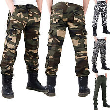 Men Combat Work Military Army Camouflage Cargo Trousers Casual Pants Fashion