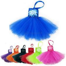 Candy Color Child Kids Girl Flower Princess Dress Off Shoulder Halter Tutu Dress