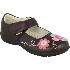 Pediped Brown Sadie Flex Girl Child Mary Jane Shoes US 8 11 EUR 25 28 101307
