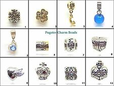 Pugster® Beads Silver Plated Charms, European Charms, Charm For Bracelet Silver