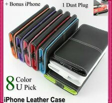 Leather Wallet Flip Case Cover for iPhone  4S 4G 4 3GS 3G