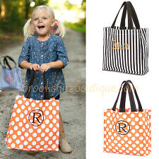 PERSONALIZED MONOGRAMMED HALLOWEEN TRICK OR TREAT TOTE BAG: ORANGE or BLACK