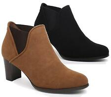 WOMENS LADIES COWBOY STYLE HIGH HEEL PLATFORM ANKLE BOOTS SHOES SIZE